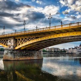 Margaret Bridge, Budapest Hungary by Ivan Prasin - Buildings & Architecture Bridges & Suspended Structures ( parliament, budapest, bridge, danube, travel photography )