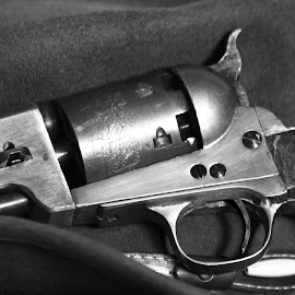 BW STILL OF NAVY COLT by Gerry Slabaugh - Artistic Objects Other Objects ( life, colt, bw, still, navy, nay, revolver )