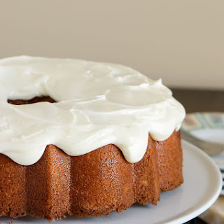 Orange Pound Cake with Cream Cheese Glaze