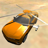 Flying Muscle Helicopter Car For PC (Windows And Mac)