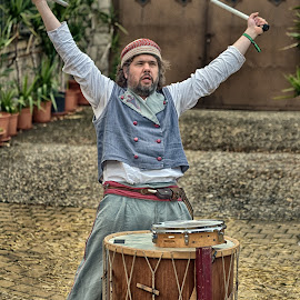 Drummer by Marco Bertamé - People Musicians & Entertainers ( drummer, drums, medieval )