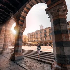 Town of Como by Goran Dzh - Buildings & Architecture Public & Historical ( como, nikon, sunlight, sunrays, italia, historical, rays, tamron, italy )