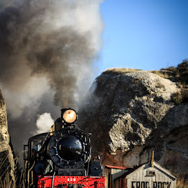 428 at Frog Rock by Martyn Cook - Transportation Trains ( colour, steam train, locomotive, north canterbury, train, new zealand, steam )