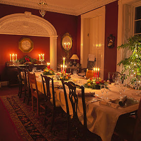Christmas in Ireland by Nat Parnell - Artistic Objects Other Objects ( ireland, mansion, christmas )
