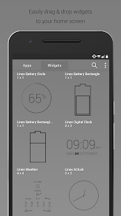 Lines Dark - Flat Black Icons- screenshot thumbnail