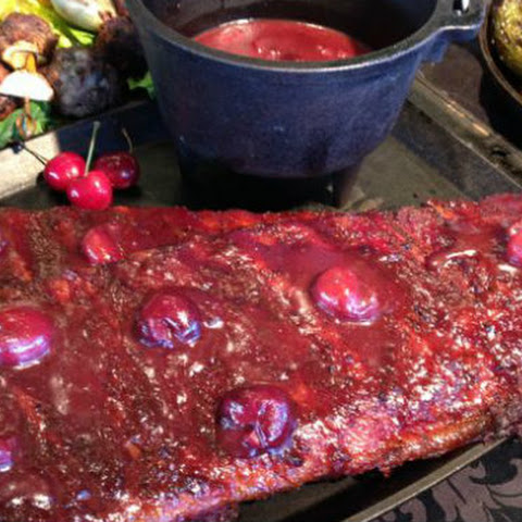 Cherry-Glazed Baby Back Ribs with Cherry Barbecue Sauce