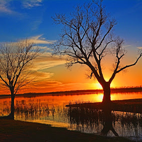 ----------Sunset at Lake Pat Cleburne---------- by Neal Hatcher - Landscapes Sunsets & Sunrises (  )