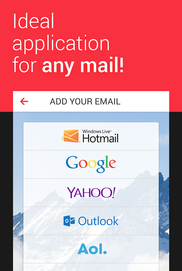myMail — Free Email Application Screenshot