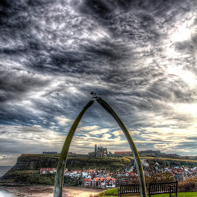 Dracula's Entrance by Mark Holm - City,  Street & Park  Historic Districts ( clouds, whale bone, dracula, whitby, storm, endeavour )