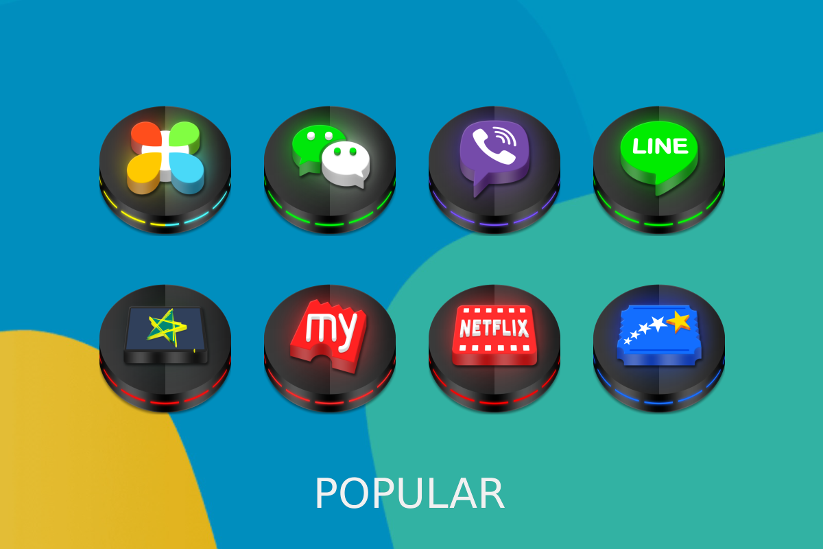 Neon 3D icon Pack Screenshot 7