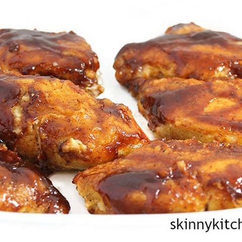 Skinnytastic Fried Chicken with Spicy BBQ Sauce