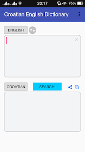 Dictionary Croatian English - screenshot