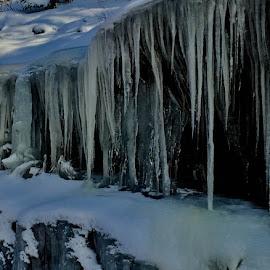 Icicles... by Debbie Squier-Bernst - Landscapes Weather