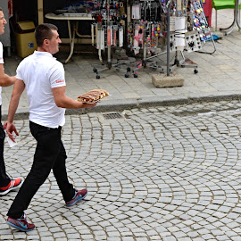 Home Delivery. Incl. a Bill. by Marcel Cintalan - People Street & Candids ( home, food, kosovo, home delivery, street, people, street photography )