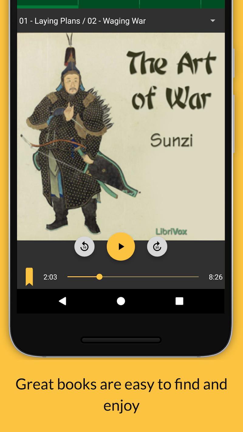 LibriVox Audio Books Supporter Screenshot 1