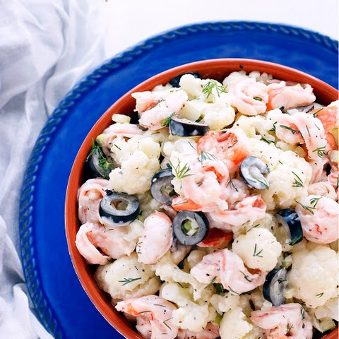 Creamy Shrimp and Cauliflower Salad - Low Carb