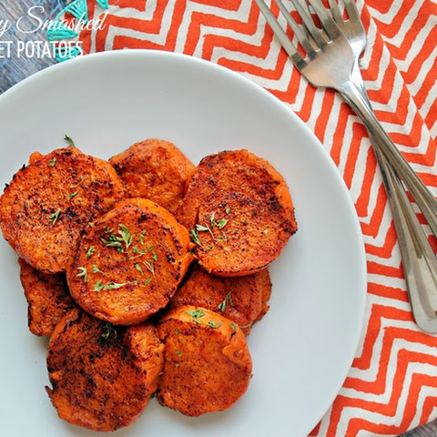 Paleo Spicy Smashed Sweet Potatoes
