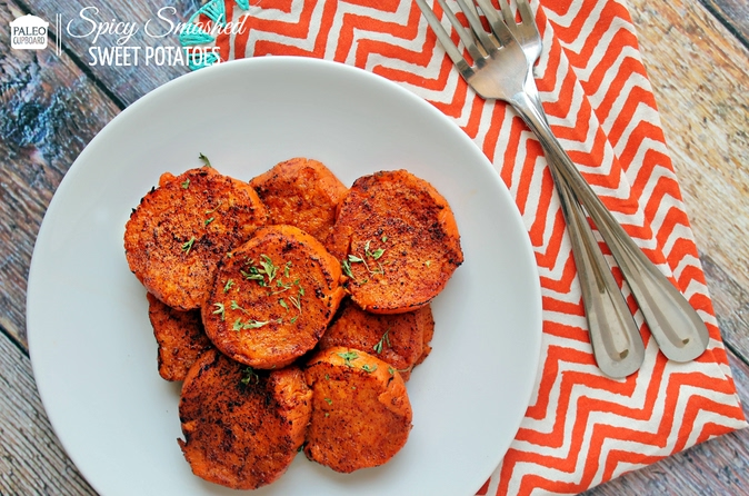 Paleo Spicy Smashed Sweet Potatoes Rezept | Yummly