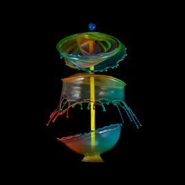 Scarecrow by Ganjar Rahayu - Abstract Water Drops & Splashes ( abstract, liquid sculpture, macro, waterdrop, color, liquid art, rainbow, composite, black )