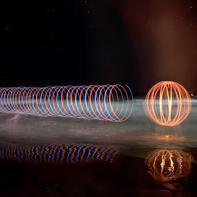 el gusano by Miguel Lopez De Haro - Abstract Light Painting