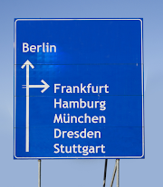 Road sign on German motorway