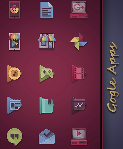 Eighties retro fun icon pack Screenshot 4