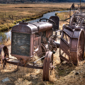 Retired by Dennis McClintock - Transportation Other ( work, old tractor, equipment, tractor, farming )