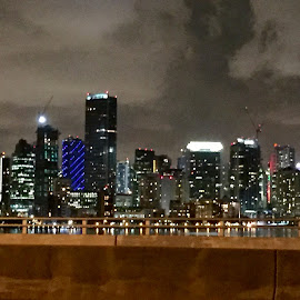 Miami at night  by Lisa Hernandez - Buildings & Architecture Office Buildings & Hotels