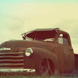 Vintage rust by Debb Rooken-Smith - Transportation Automobiles ( england, pickup, vintage, wheels, chrome, vehicle, show, rust, classic,  )