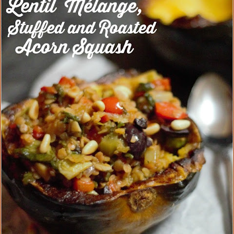 Lentil Melange Stuffed, Roasted Acorn Squash