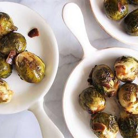 Balsamic Glazed Brussels Sprouts with Garlic