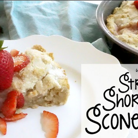 Vegan and Gluten-Free Strawberry Shortcake Scones