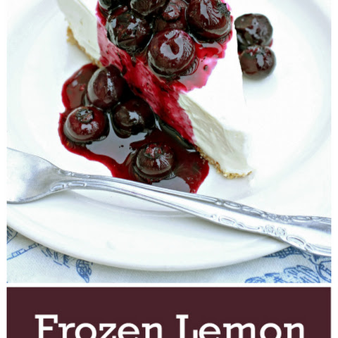 Frozen Lemon Cheesecake with Fresh Blueberry Topping