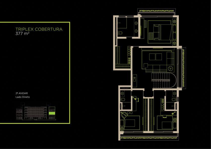 Apto Cobertura Triplex (31B) - 377 m² - Piso Inferior