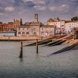 Harbour Side by Darrell Evans - Buildings & Architecture Public & Historical ( uk, old, harbor, kent, moor, boats, harbour, yacht, quay, seaside, house, sailboat, sky, sailing, quayside, buildings, moored, ramsgate )