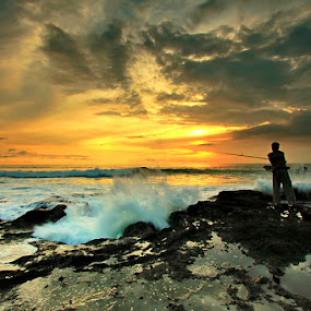 Wave Hunter by Agoes Antara - Landscapes Sunsets & Sunrises