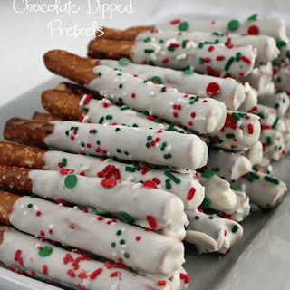 White Chocolate Dipped Pretzel Rods