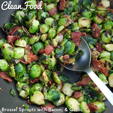 Brussel Sprouts with Bacon, & Garlic