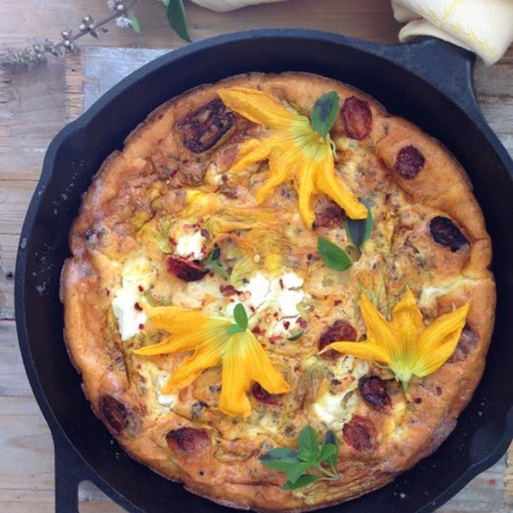 Squash Blossom Ricotta Frittata Recipe | Yummly