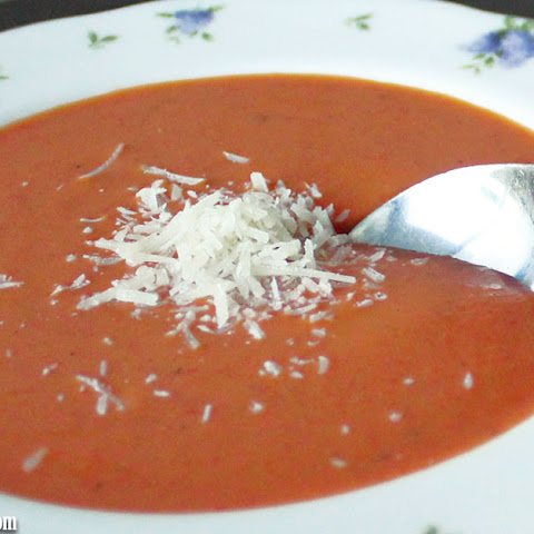 Creamy Roasted Red Pepper & Tomato Soup
