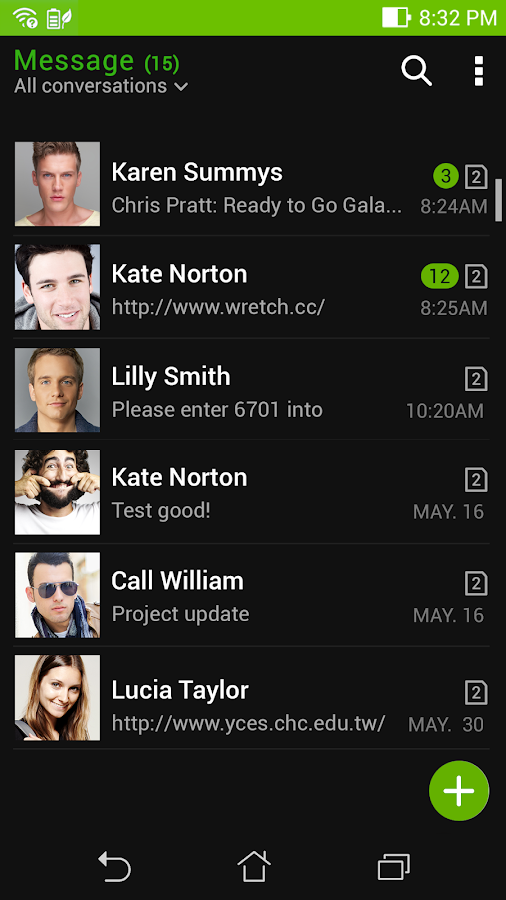 ASUS Messaging - SMS & MMS Screenshot 2
