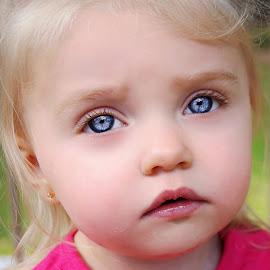 The Blue Eyed Beauty by Cheryl Korotky - Babies & Children Child Portraits