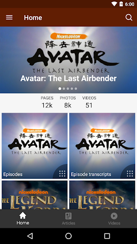 Fandom: Avatar Android App Screenshot