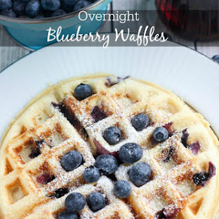 Overnight Blueberry Waffles