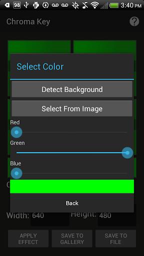 Chroma Key - screenshot