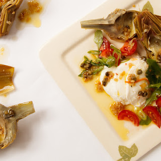BRAISED ARTICHOKES, MOZZARELLA, TOMATOES AND MINT