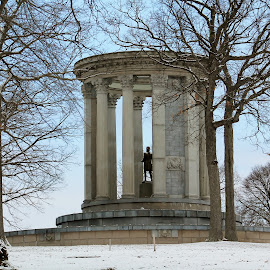 Monument by Tina Marie - Buildings & Architecture Statues & Monuments ( pittsburgh, cemetery, snow, monument )