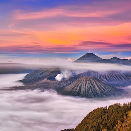 Mount  by Tien Sang Kok - Landscapes Mountains & Hills ( volcano, mountain, nature, sunrise, landscape )