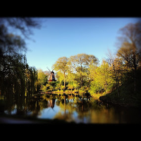 Old Mill by Aleksey Maksimov - Instagram & Mobile Instagram ( water, mill, copenhagen, instagram, trees, denmark, castelet )