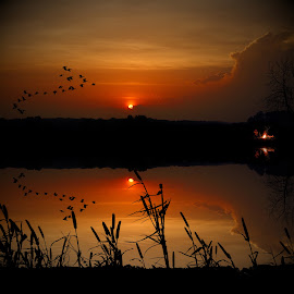 Fishing by Paul Mays - Landscapes Sunsets & Sunrises (  )